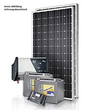 200Watt 12 Volt + 1000W/230V Solar Set Solaranlage Inselanlage Garten Camping