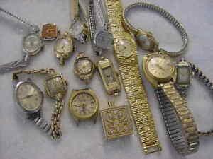 Lot of 15 + Vintage GOLD FD antique Art Deco BULOVA GRUEN lady watch watches