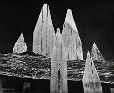 1936/63 Vintage 11x14 PICKET FENCE Abstract Sierra Foothills Art By ANSEL ADAMS