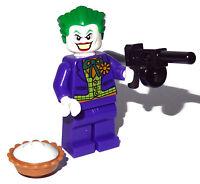 Lego Joker Minifigure with Gun and Pie Toy NEW Birthday