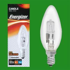 3x 48W (=60W) Dimmable Halogen Clear Candle Light Bulbs SES E14 Lamps
