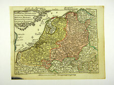 NIEDERLANDE HOLLAND AMSTERDAM ALTKOL KUPFERSTICH KARTE LOTTER 1762 #D916S