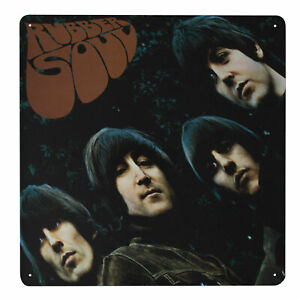 The Beatles RUBBER SOUL Metal Wall Sign Retro Tin Steel Plaque Bar Gift