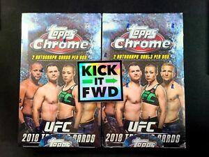 2018 Topps Chrome UFC Sealed Hobby Boxes (Lot of 2)