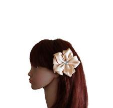 Tan Hair Clip. Hair Flower Clip. Baby And Child Hair Clip. Ribbon Hair Clip.