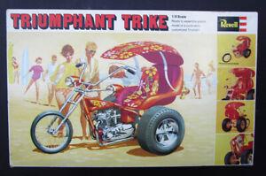 VINTAGE 1969 TRIUMPHANT TRIKE PRE UNIT TRIUMPH MOTORCYCLE REVELL MODEL KIT 1/8