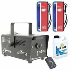 (2) Chauvet DJ NVF-4 Battery Powered Flashlight Blacklight + Fog Machine + Fluid