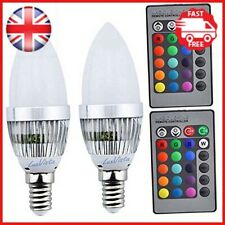 Luxvista 3W E14 LED RGB Light Bulb 16 Colors Changing SES Candle Bulbs Dimmable