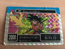 Carte Dragon Ball Z DBZ PP Card Part 4 #127 Prisme AMADA 1989 MADE IN JAPAN