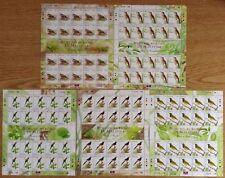 M'sia Birds National definitive sheetlets 20c, 30c, 40c, 50c & 75c mint 2005