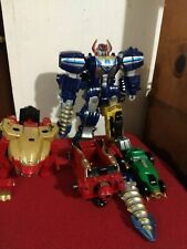 Power Rangers Super Megaforce Q Rex Zord Legendary Megazord Parts Lot