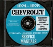 CHEVROLET 1974-1975 Caprice, Impala, Bel Air & Corvette Shop Manual CD