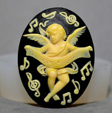 ANGEL CAMEO SILICONE MOULD Cupcake polymer clay chocolate resin fimo mold cherub