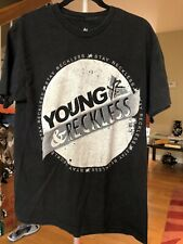 young and reckless t shirt Large Black