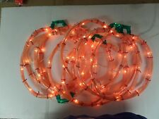 "LIGHTED FALL PUMPKINS DECORATION 6 EACH 101/2"" TALL INDOOR/OUTDOOR NIB"