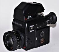 Rolleiflex SL 3003  mit Rollei HFT Planar 1,8/50 mm u. Sport-Prismensucher 30°