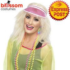 AC438 Pink Poker Visor Las Vegas Casino Croupier Sport Sun Costume Hat Cap Golf