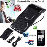 Hands-free Multipoint Wireless Bluetooth Speaker Car Kit Speakerphone Visor Clip