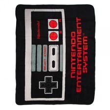 New Nintendo Video Game Controller Plush Fleece Gift Throw Blanket NES Original