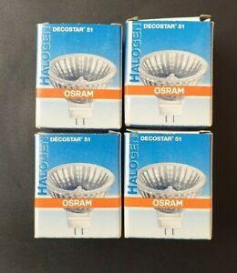 4 Stück Osram Halogen DECOSTAR 51, GU 5,3, 41870 SP 12V 50 Watt, 10 Grad