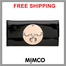 Mimco EXTRA LARGE TURNLOCK XL WALLET CLUTCH PURSE BNWT BLACK RRP$269