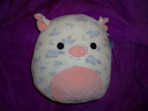 "8"" Squishmallow Rosie the Spotted Pig Kellytoy NWT Farm Squad NO Bandana *RARE*"