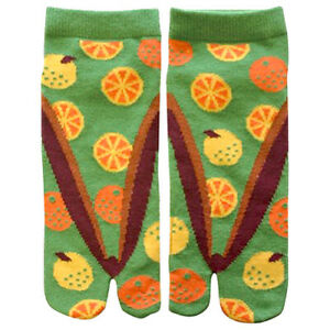 Japanese Ladies Tabi Socks Orange UK Stock
