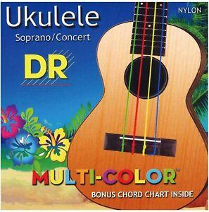 DR Multi-Color Ukulele Strings.  Free U.S. Shipping!