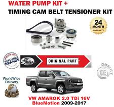 FOR VW AMAROK 2.0 TDi 16V BlueMotion 2009-2017 TIMING BELT KIT + WATER PUMP SET