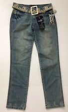 Vanilla Star Straight Leg Jeans Medium Wash Stretch Denim Women's Size 9