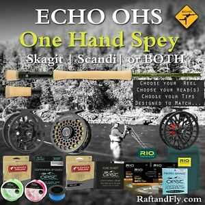 """Echo OHS 6wt 10'4"""" Outfit - 3wt Trout Spey Skagit, SA Scandi, or Both"""