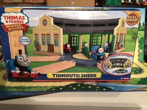 thomas and friends wooden railway BNIB Tidmouth Sheds. Wow, One Off Item.