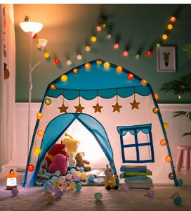 Princess Castle House Children Tent House Indoor Outdoor Kids Toys With LED Lamp