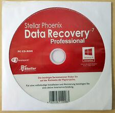 "Stellar Phoenix Windows Data Recovery 7 Professional, 1 CD-ROM Vollversion ""NEU"""