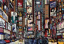 WALLPAPER MURAL PHOTO New York Skyline WALL DECOR PAPER GIANT ART cartoon style