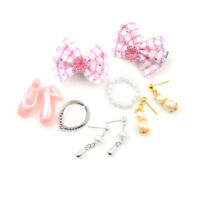 Jewelry Necklace Earring Comb Shoes Crown Accessory For  Dolls SetHICA