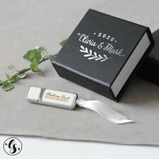 USB Flash Drive & Box - Custom Personalized Wedding Photograph Engraved Silver