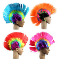Hot Mohawk Hair Wig Mohican Punk Rock Fancy Dress Cosplay Party Costume