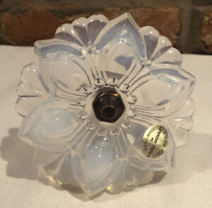 """Opaline Pressed Glass Flower Curtain Tieback 4 1/4"""" X 5 1/2"""" 12 Available"""
