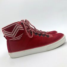 ea6919e25 RARE Louis Vuitton Men LV Red Leather Hi Top Trainer Boots Shoes Size 41  UK7 US8