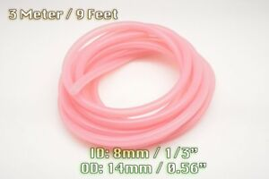 3 METERS CLEAR PINK SILICONE VACUUM HOSE ENGINE BAY DRESS UP 8MM FIT MMC