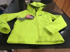 BOYS YOUTH Under Armour COLDGEAR STORM INFRARED jacket YLG LARGE NEON YELLOW NWT