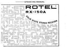Rotel RX-150A Receiver Owners Instruction Manual