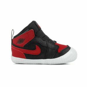 NIB Air Jordan 1 I Crib Bootie Banned Bred Black Red Retro Sneakers AT3745-023