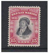 San MARINO - 1935, 15c De Filippis Delfico TIMBRO-M/M-SG 217
