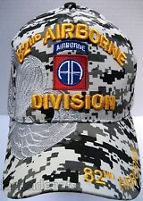 82ND AIRBORNE VETERAN Cap/Hat w/Shadow Digital Camo Military**Free Shipping**