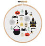 Halloween Cross Stitch Pattern, Cross Stitch Sampler, Halloween Embroidery
