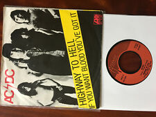 """AC/DC : """"Highway to Hell - If you want blood"""", 45 tours, 7"""""""