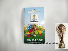 "Fußball WM-Pin ""Pokal"" FIFA World-Cup 2014 Brazil tm WC Brasilien 30 mm Brasil"