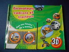 Livre Illustré Photo Excavateurs Tracteurs Tractopelle Camion Illustration 3D